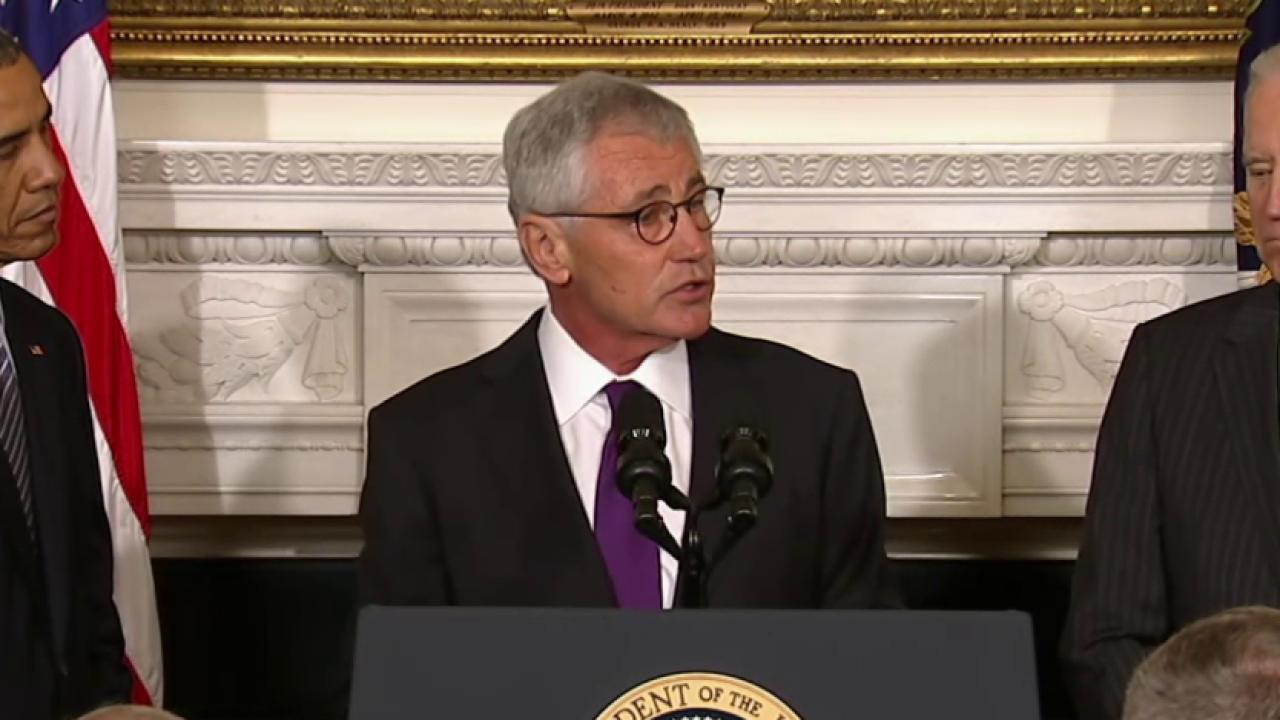 Chuck Hagel resigns as Secretary of Defense
