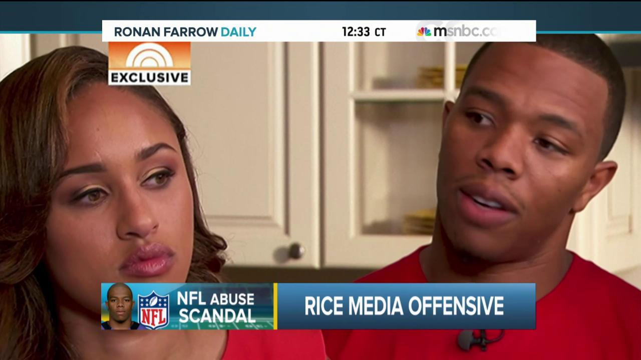 Ray and Janay Rice's media offensive