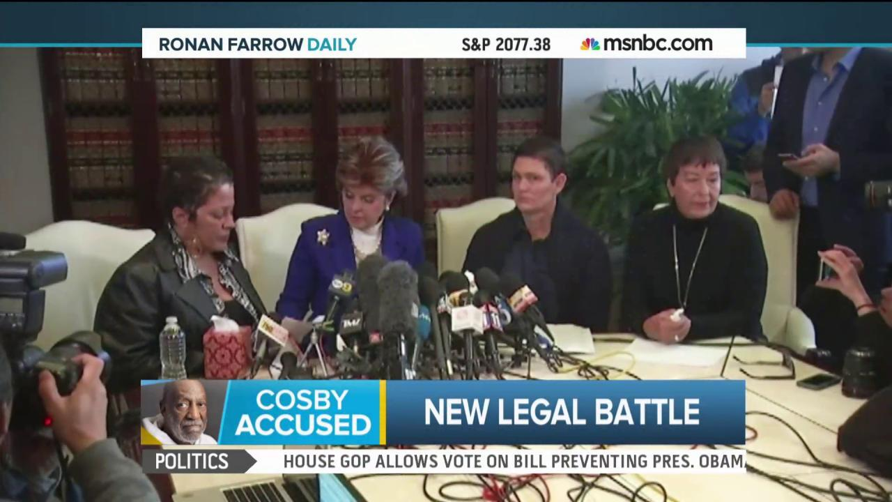 Cosby accusers step out of the shadows