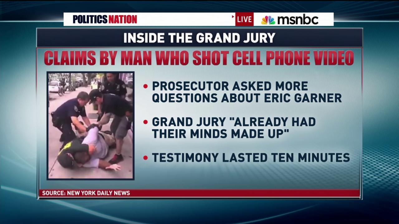 Were Garner grand jurors on their cell...