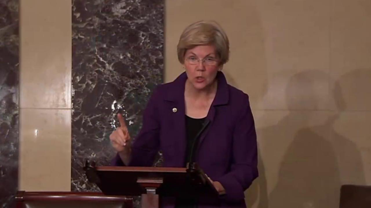 Elizabeth Warren takes on Barack Obama