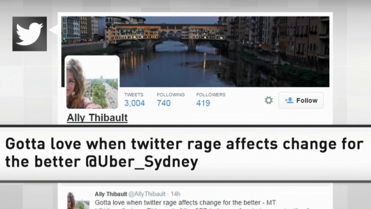 Twitter outrage over 'Uber Sydney' price hike