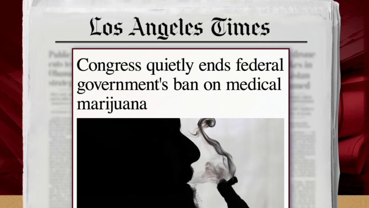 Congress ends ban on medical marijuana