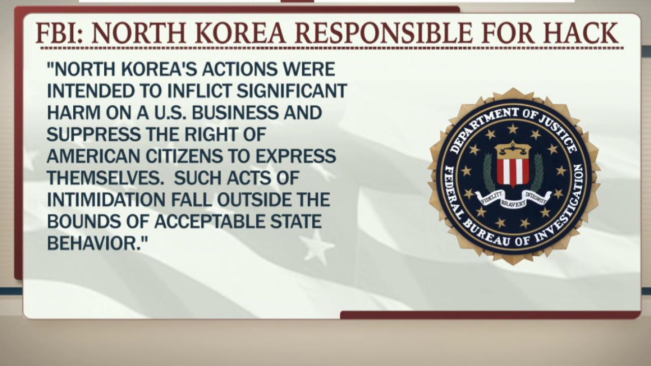 FBI: North Korea behind Sony hacking