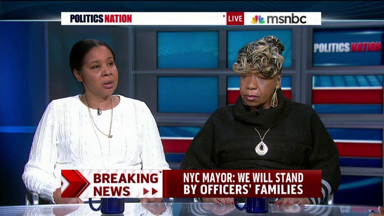 The Garner family condemns NYPD attack