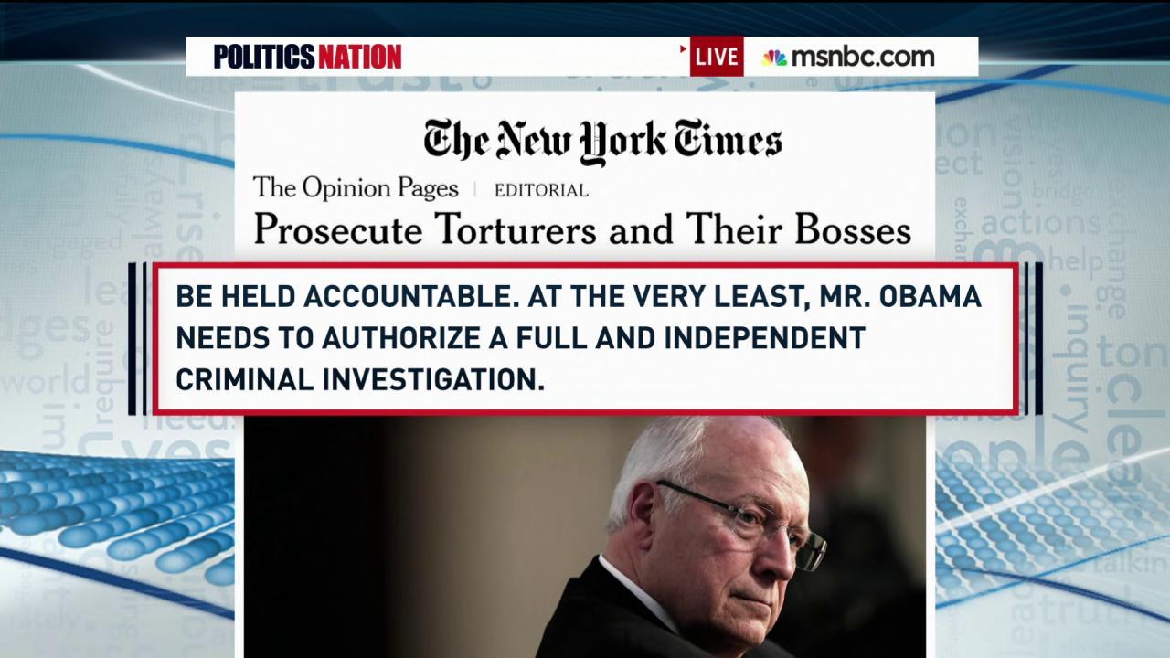NYT op-ed calls for Cheney prosecution