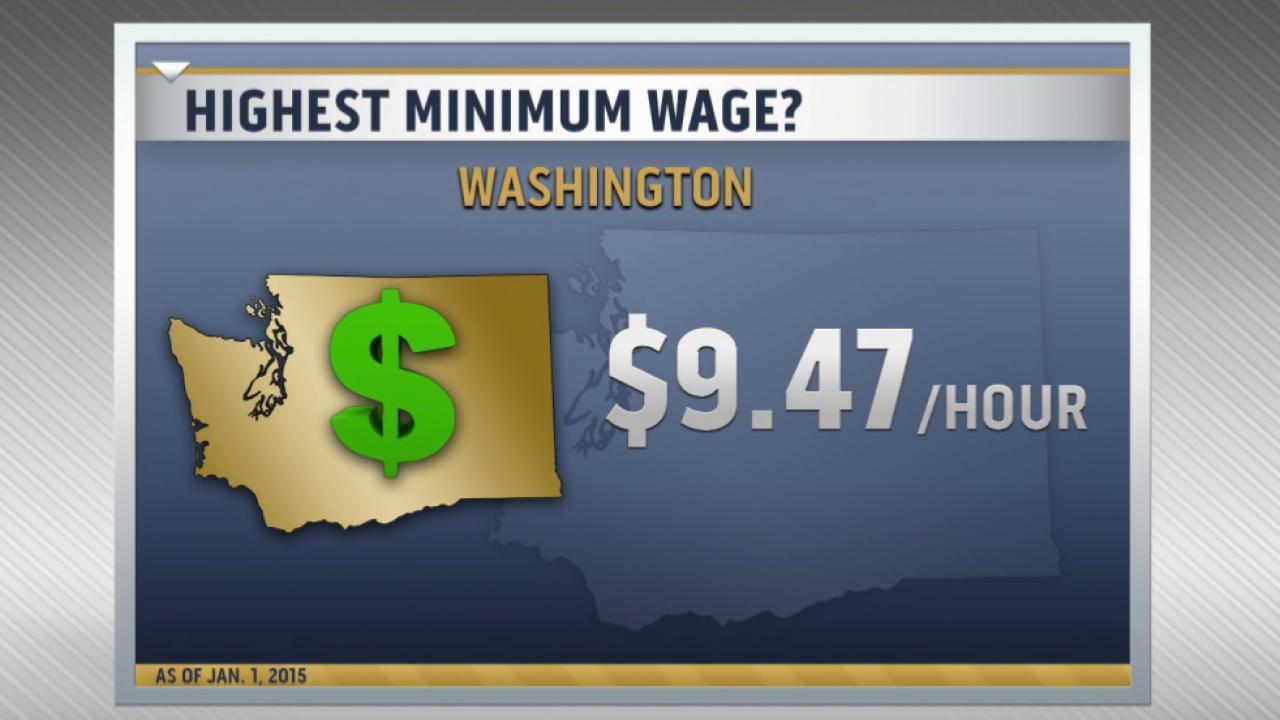 Minimum wage rising in 20 states on Jan. 1