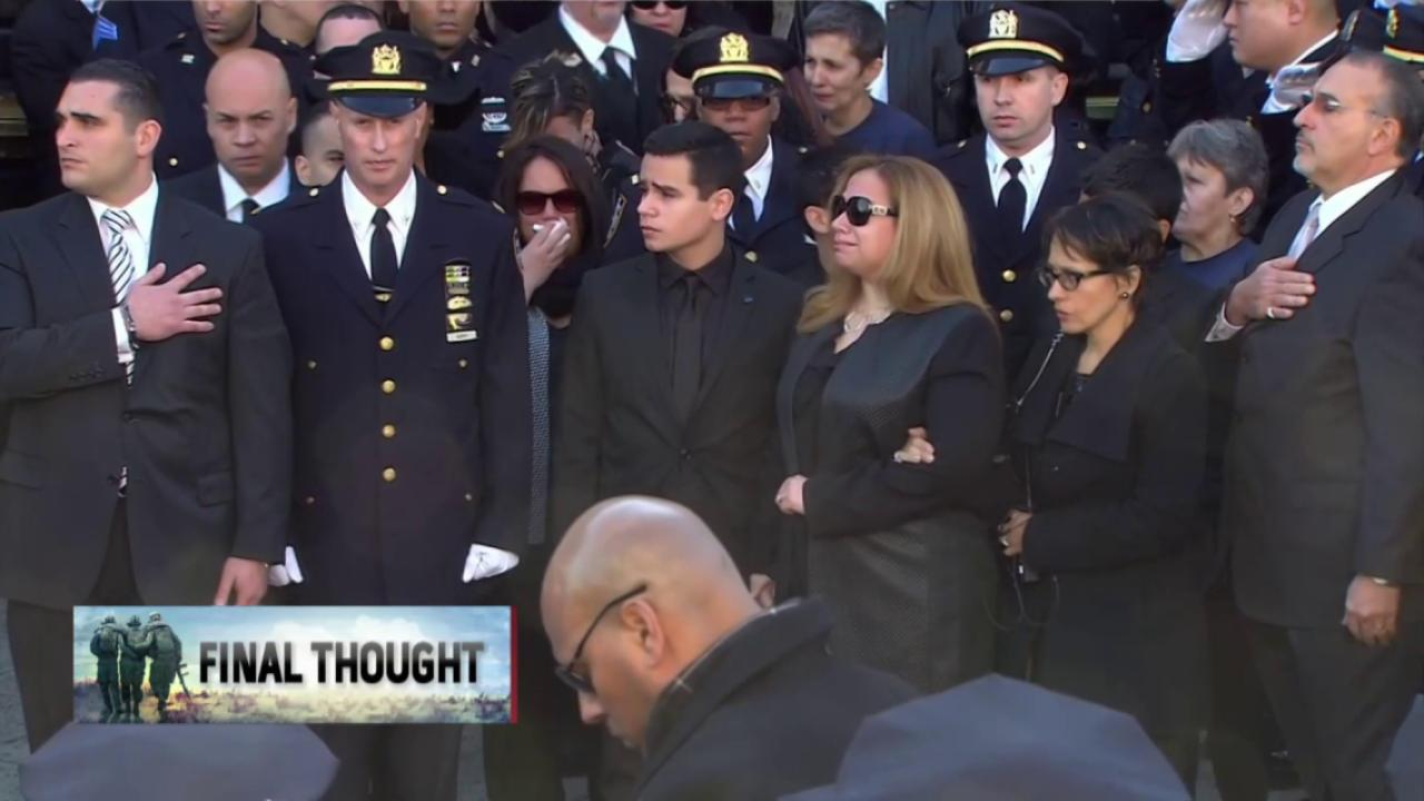 Americans pay respects to fallen NYPD officer