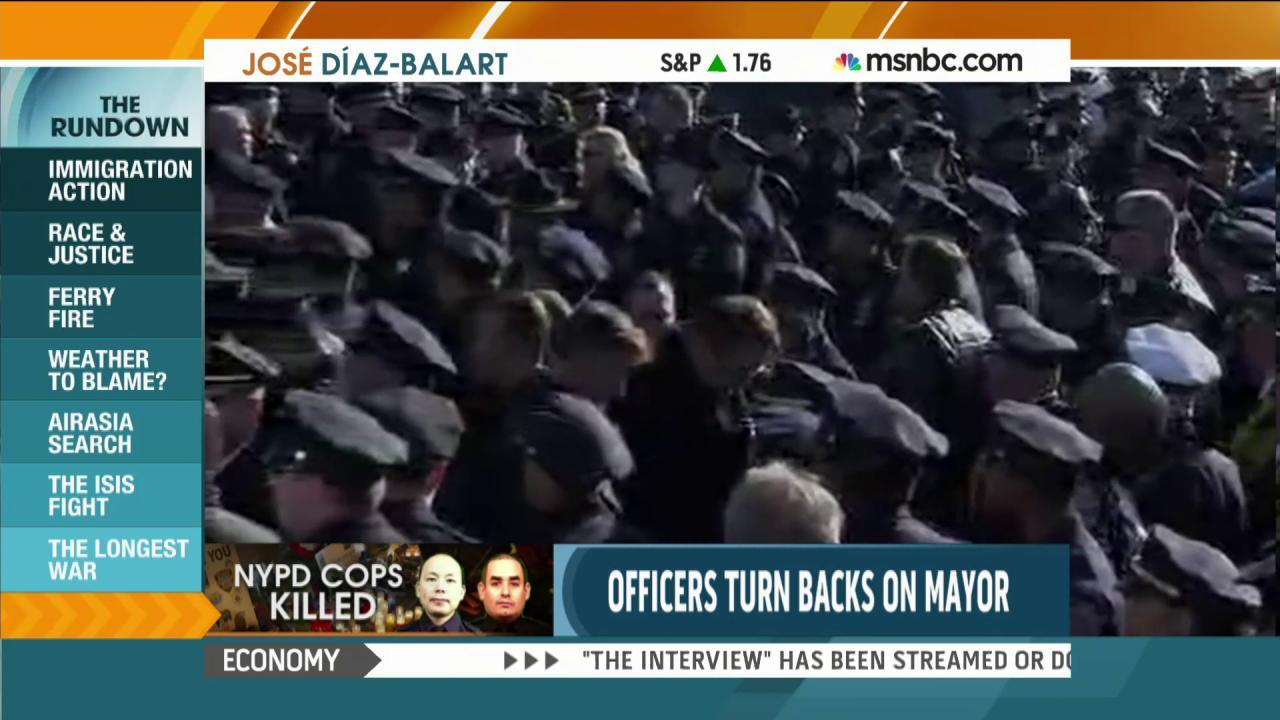 Divide between NYC mayor, police grows