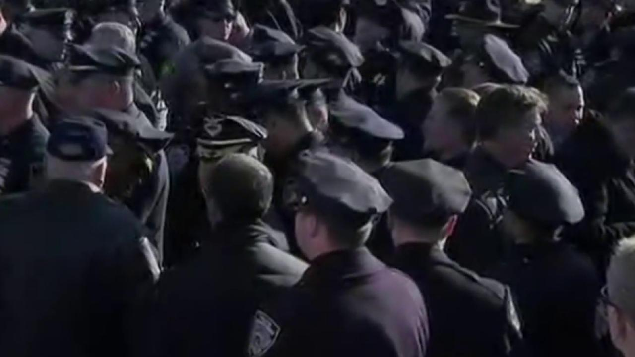 Tense divisions between NYC mayor, police