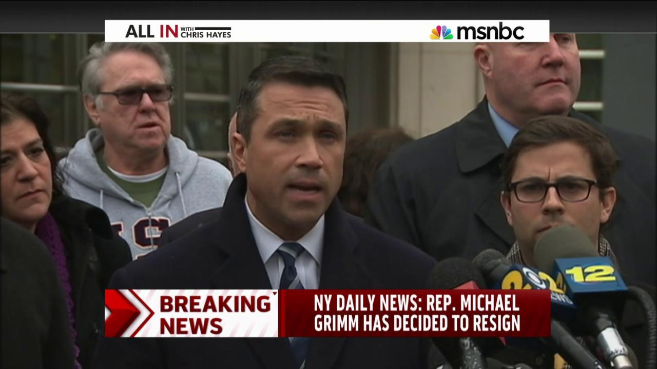 Report: Rep. Grimm to announce resignation