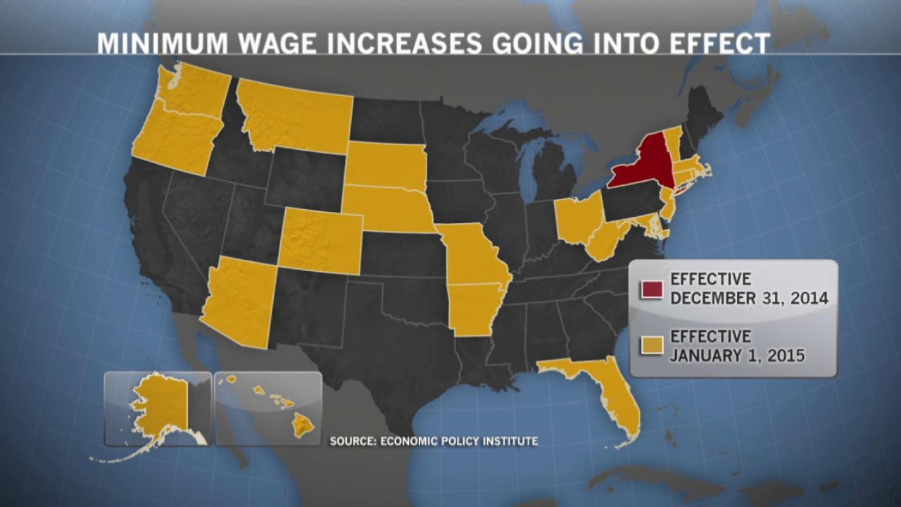20 states to raise minimum wage