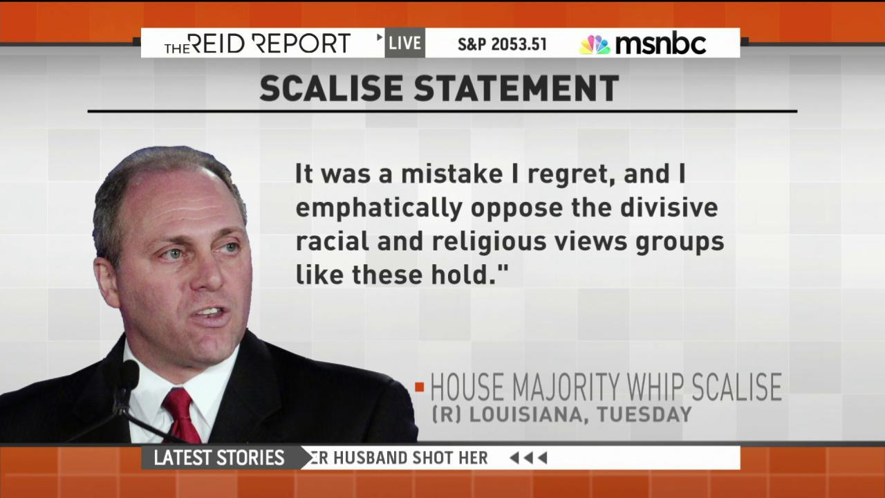 GOP in damage control mode from Scalise...