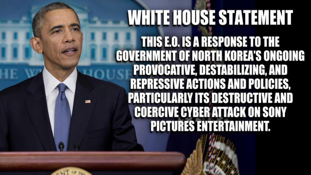 US sanctions North Korea over Sony hack