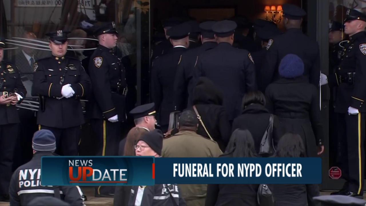 De Blasio to speak at NYPD officer's funeral