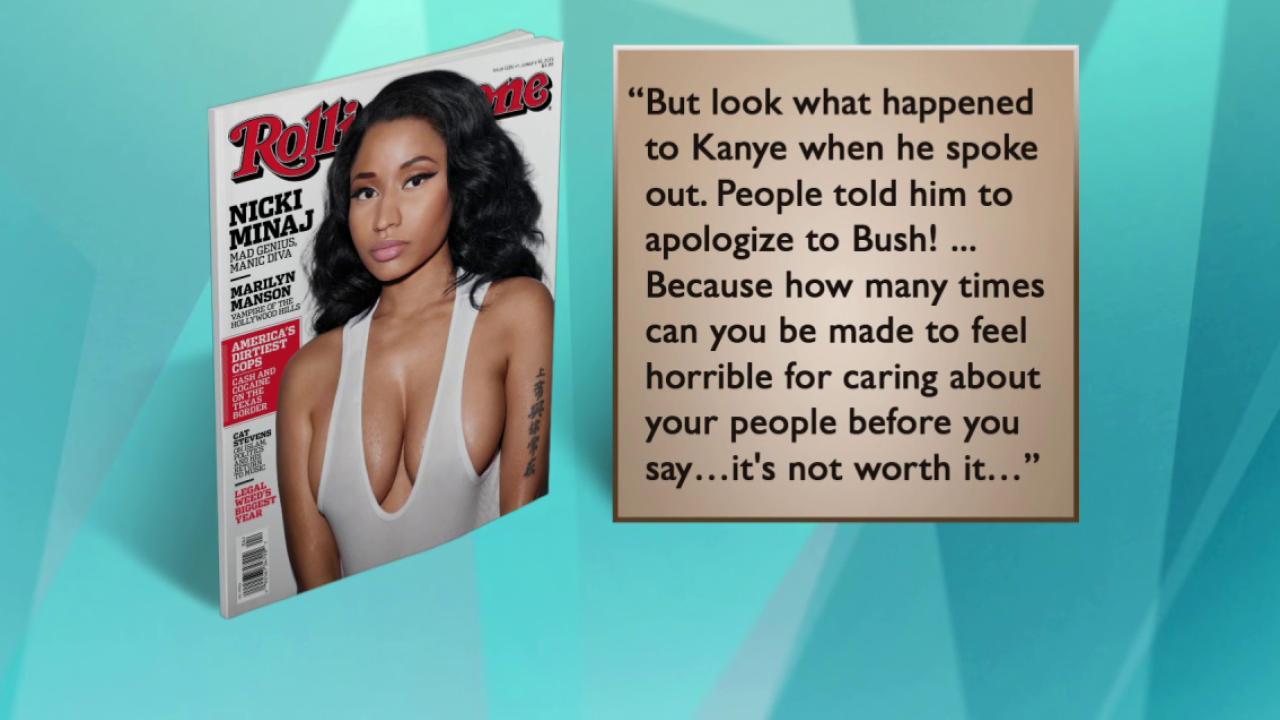 Nicki Minaj speaks out on cost of activism