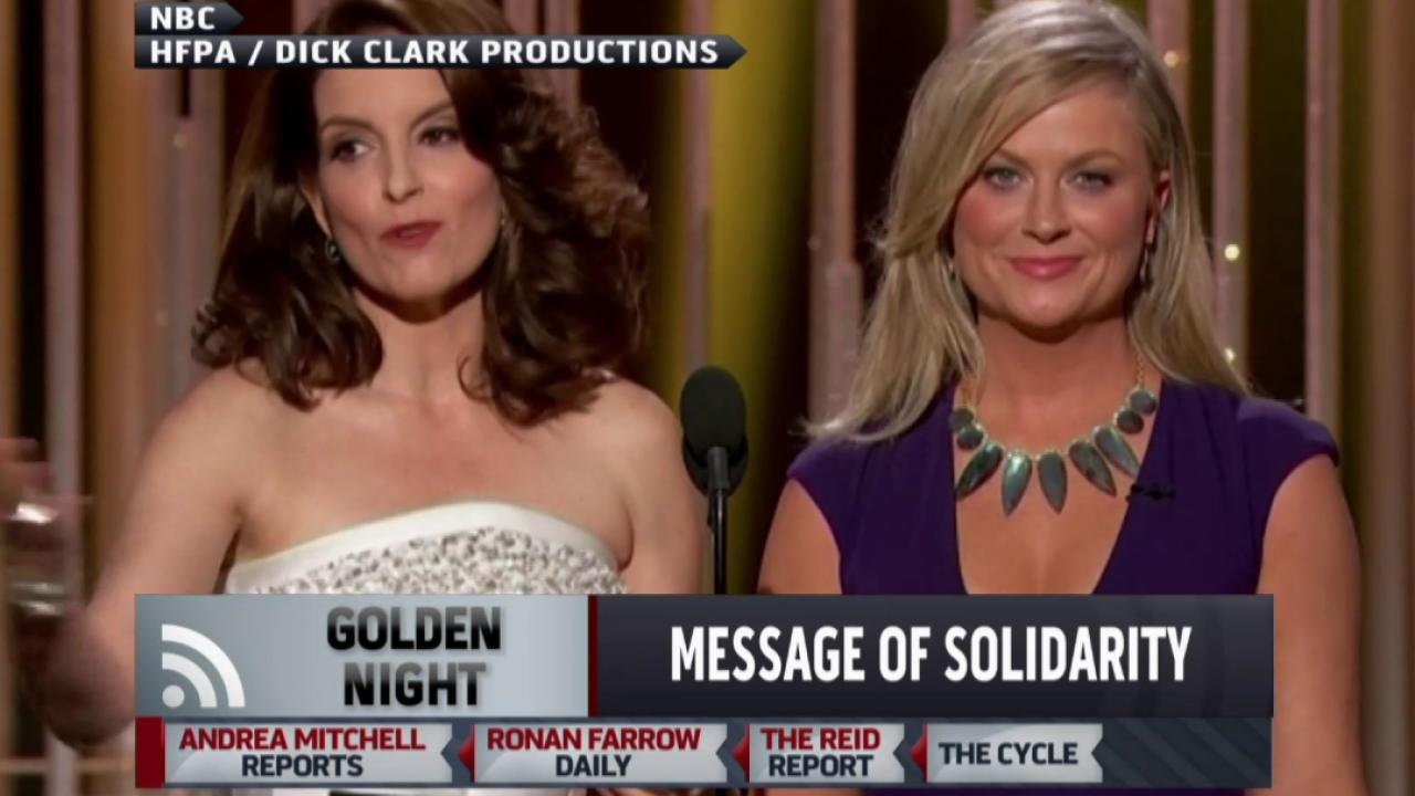 Message of solidarity at Golden Globes