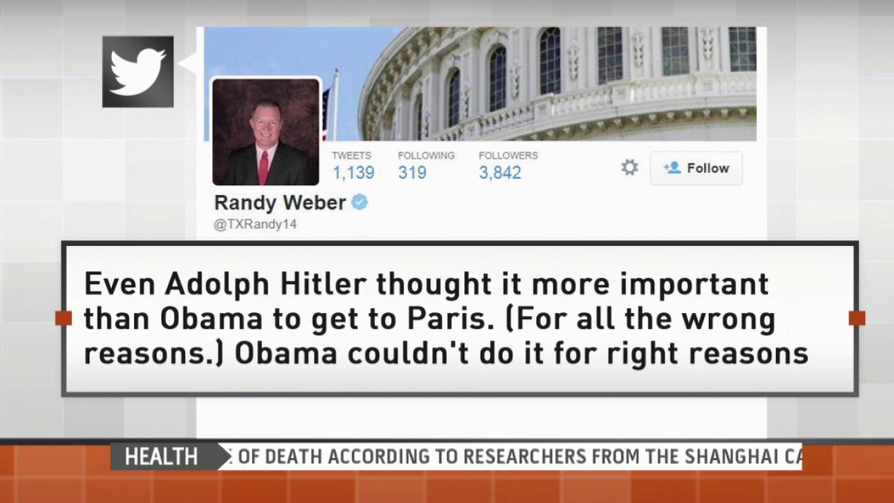 Rep. Randy Weber compares Obama to Hitler