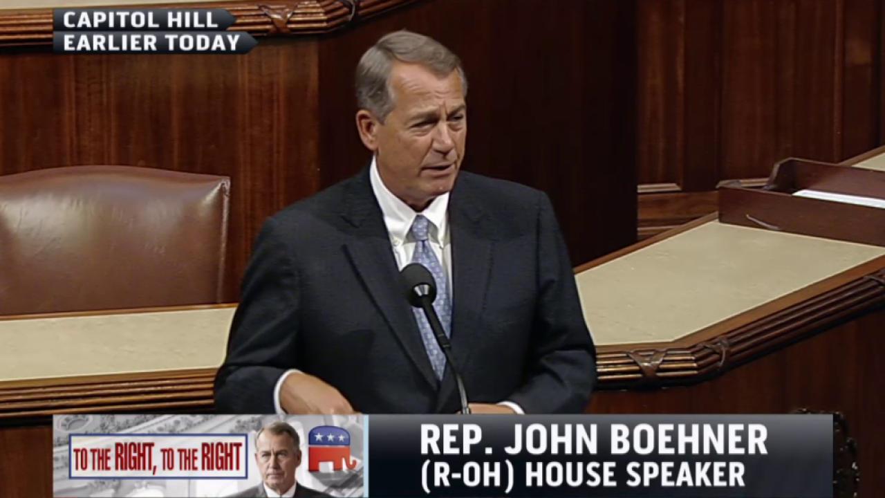 What is Boehner's endgame?