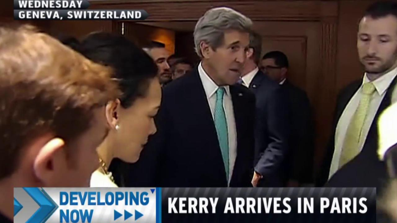 Kerry arrives in Paris for meeting with...