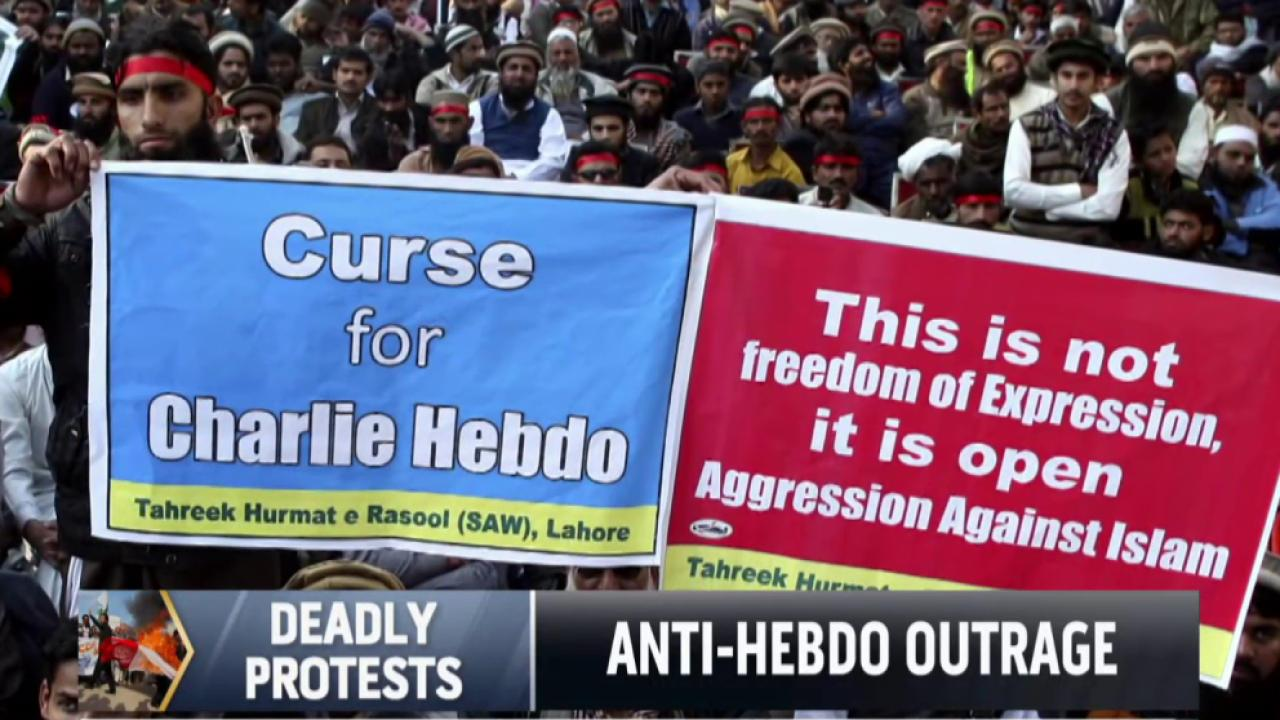 Anti-Charlie Hebdo outrage ripples out