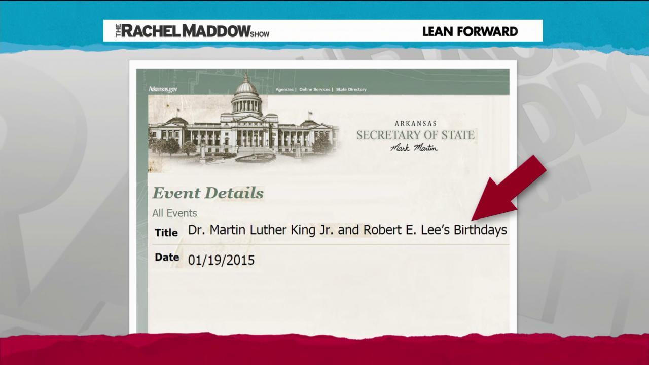 Three states celebrate Confederacy on MLK Day
