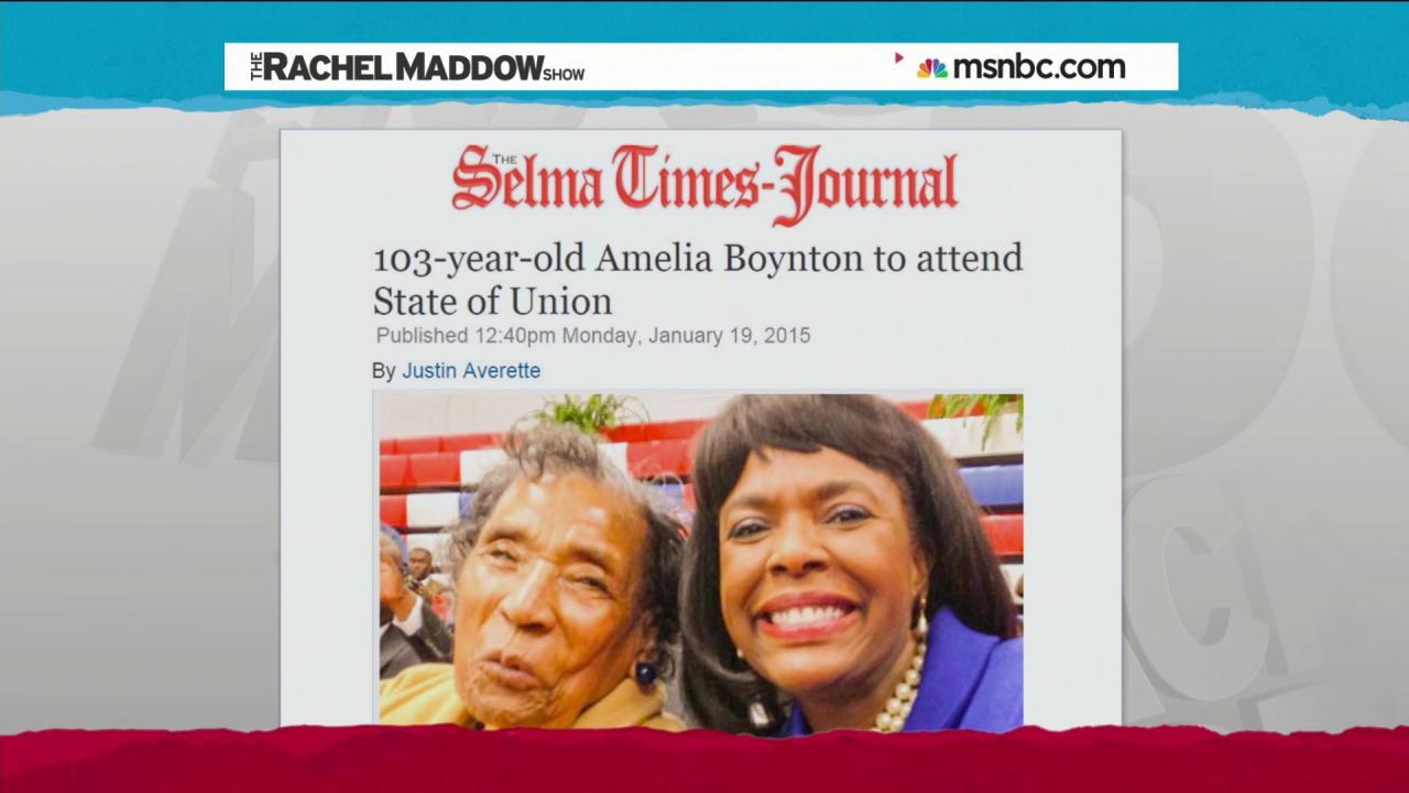 Amelia Boynton to attend state of the union