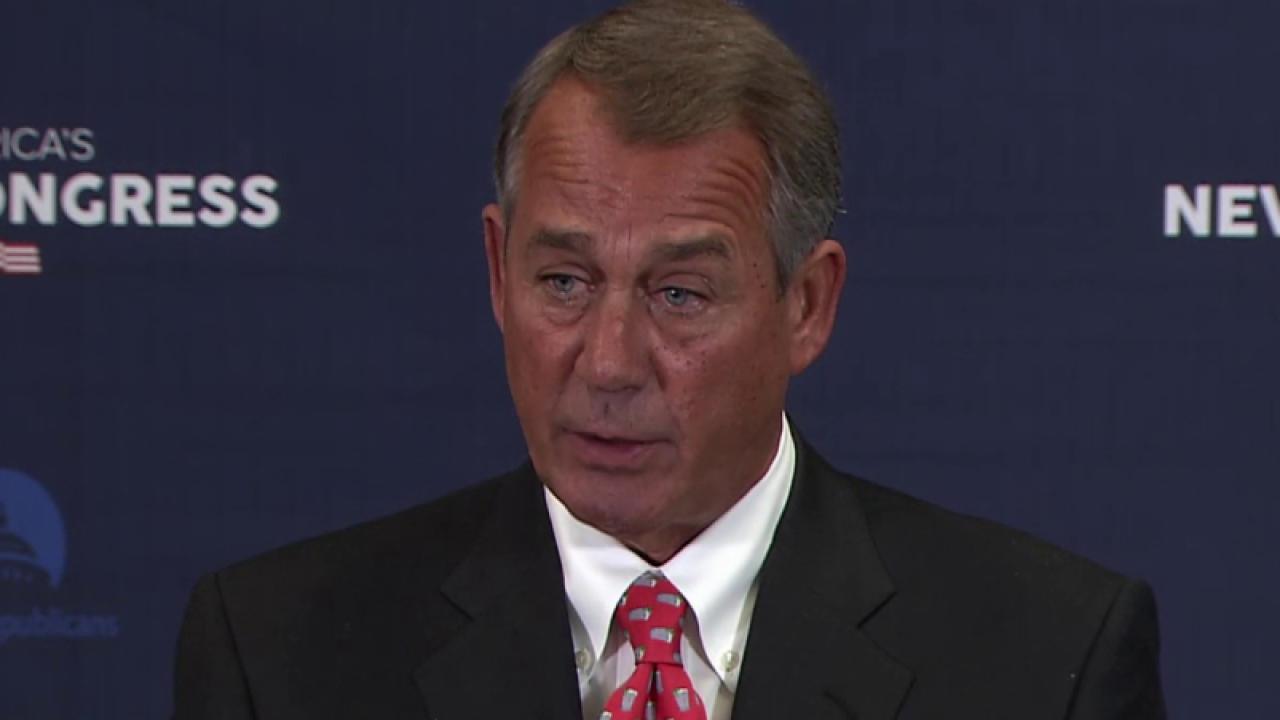 Boehner: not 'poking anyone in the eye'