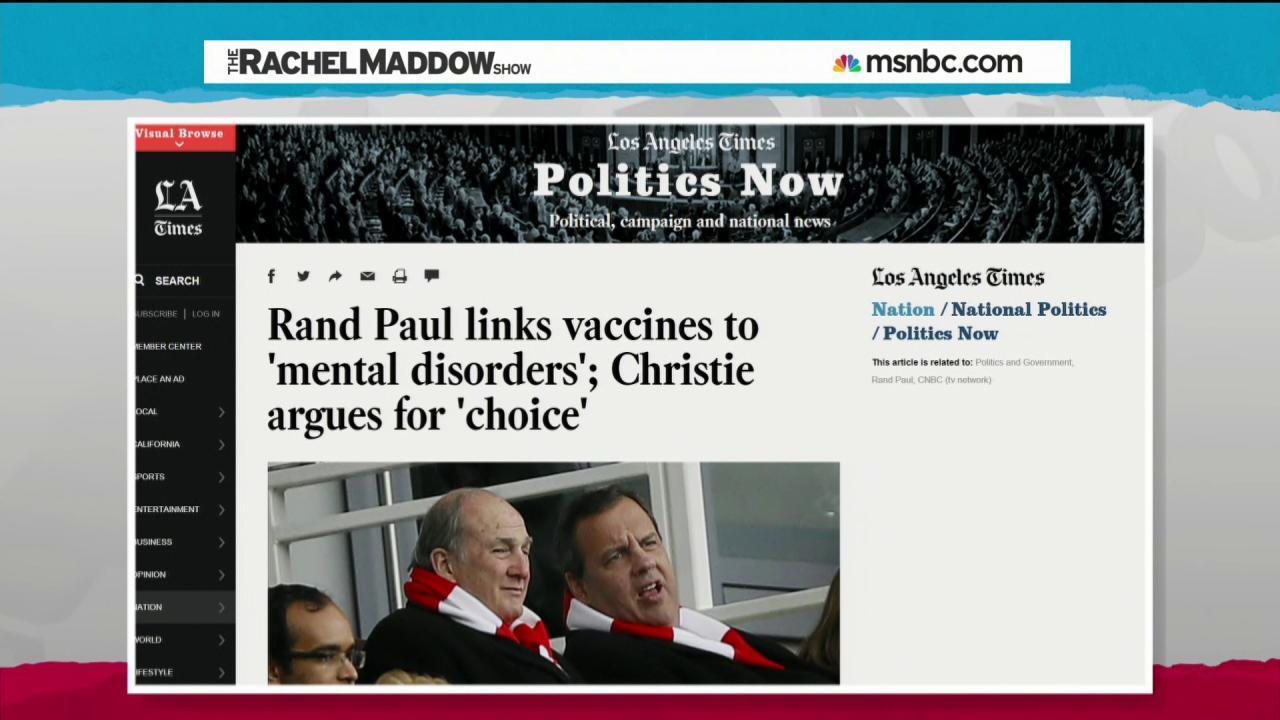 Anti-vaccination politics hard to fathom