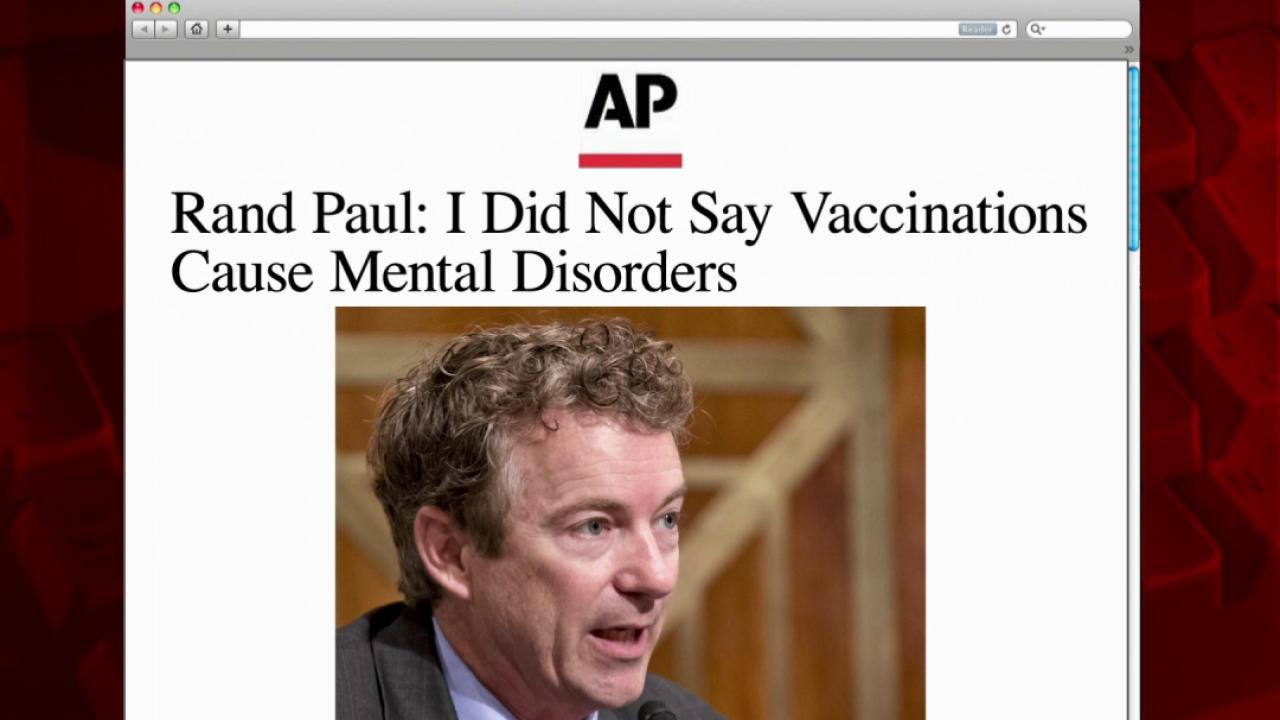 Rand Paul backtracks on vaccines
