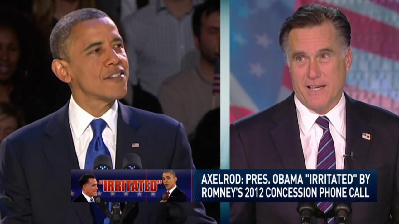 Pres. Obama irritated with Romney concession
