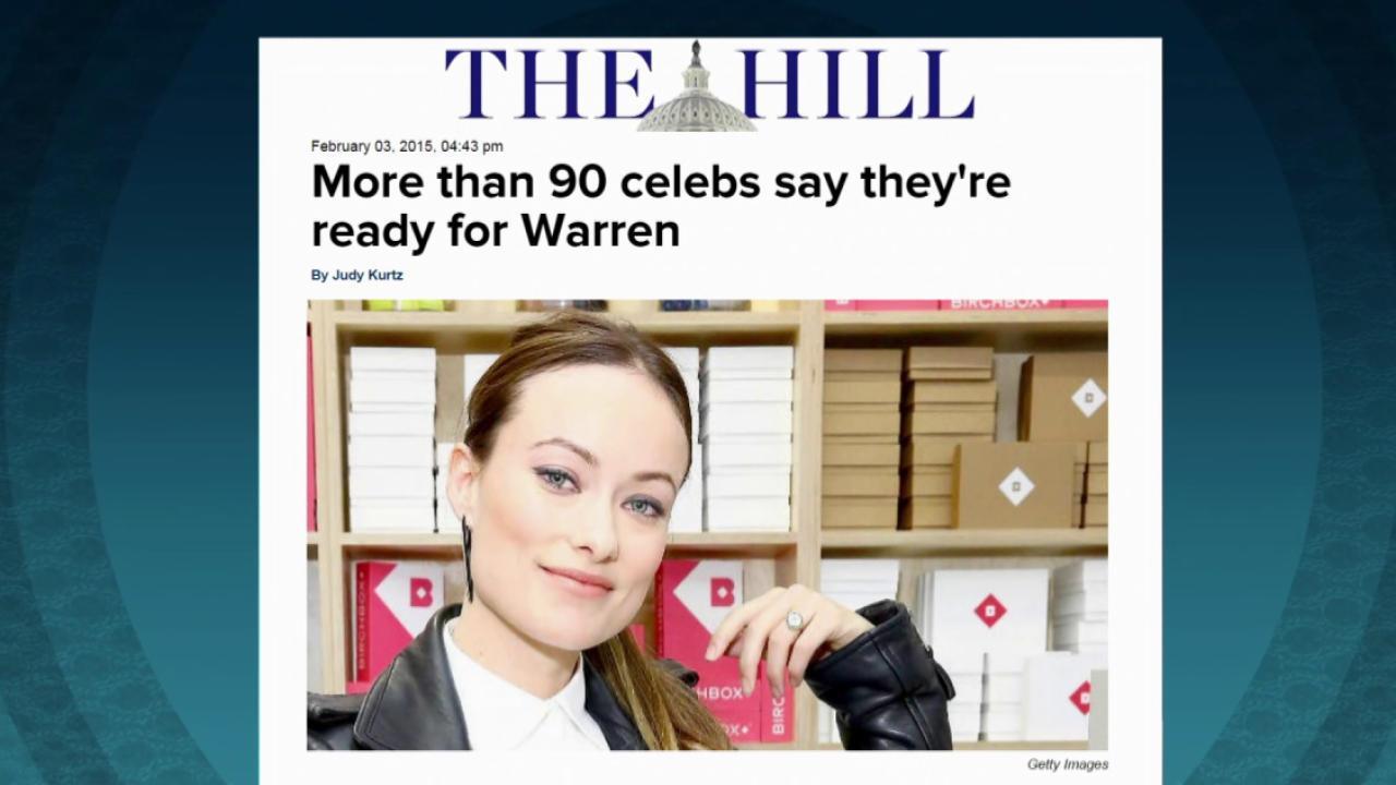 Celebs ready for Warren for 2016