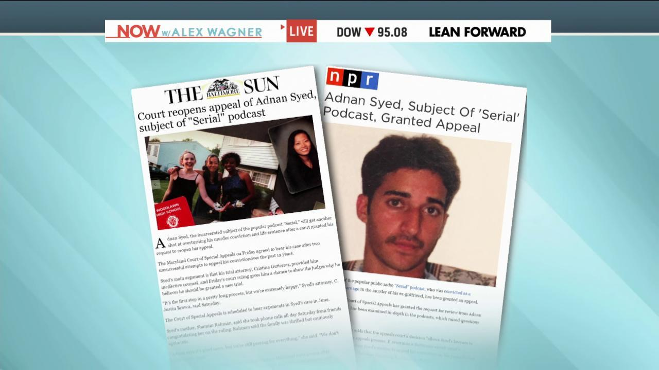 """Serial"" appeal granted to Adnan Syed"