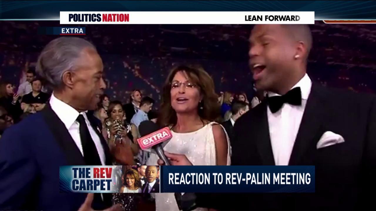 Fans react to Rev. Al and Sarah Palin