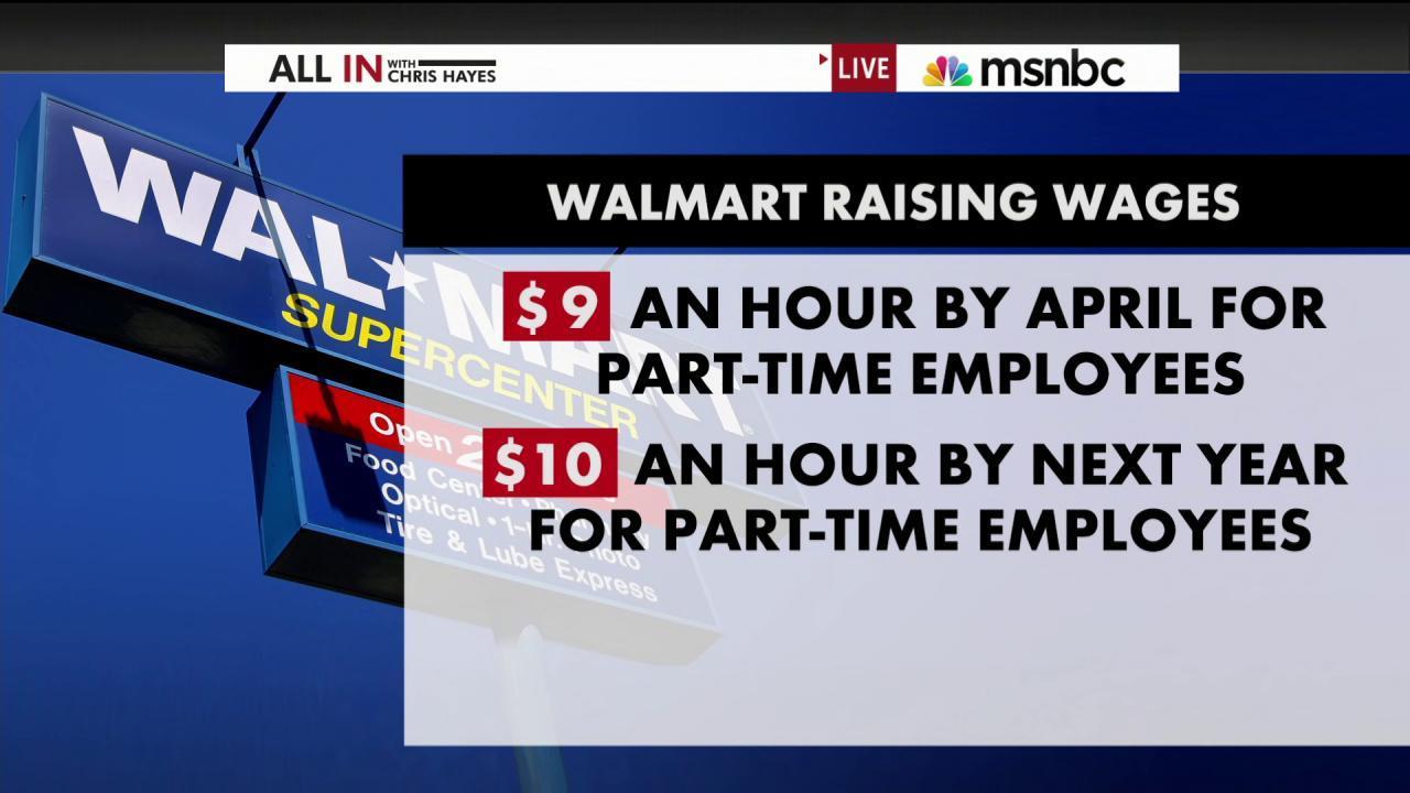 Walmart gives 500,000 people a raise