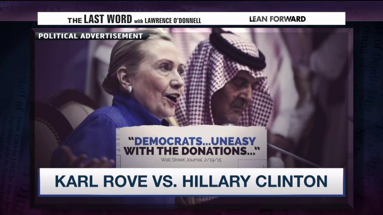 Karl Rove attacks Hillary Clinton again