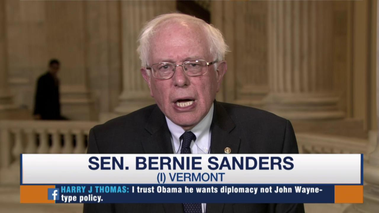 Sanders: Avoid war at all costs