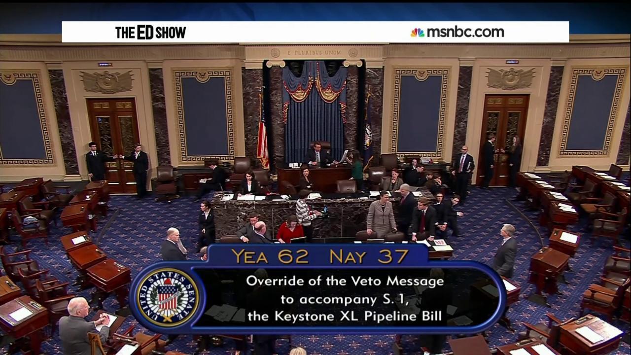 GOP fails to overturn KXL veto