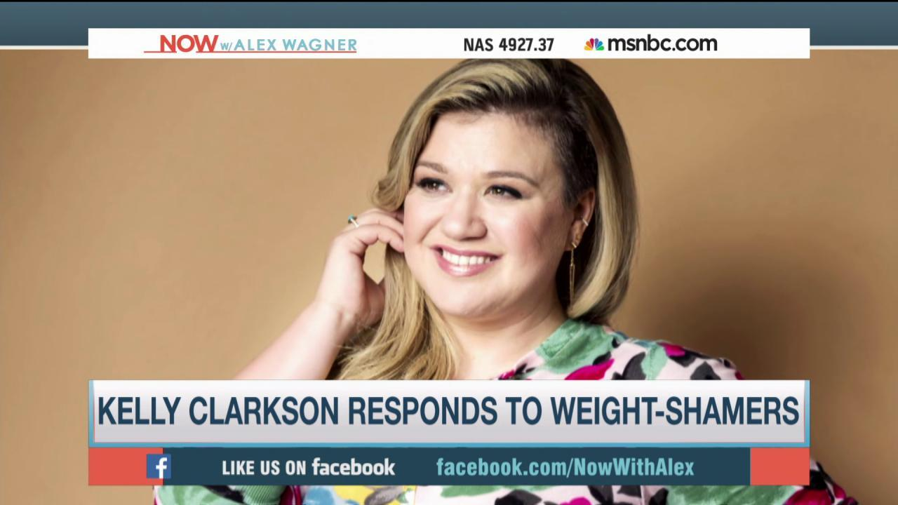 Kelly Clarkson shames body shamers
