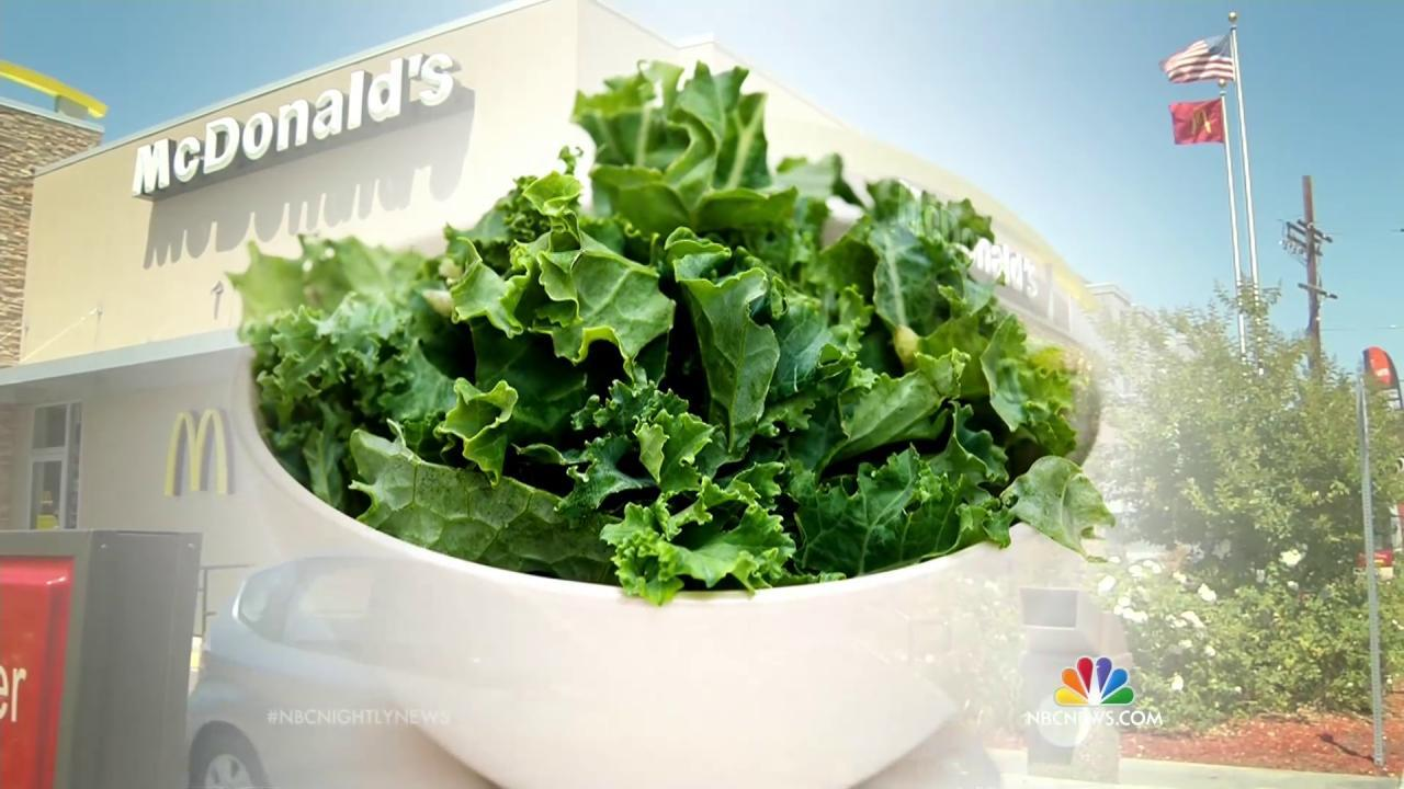 McDonald's May Be Adding Kale to the Menu This Year