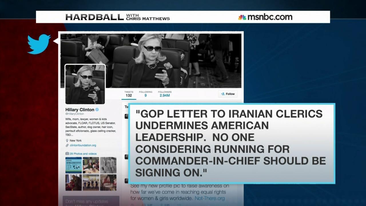 Fallout continues over GOP letter to Iran