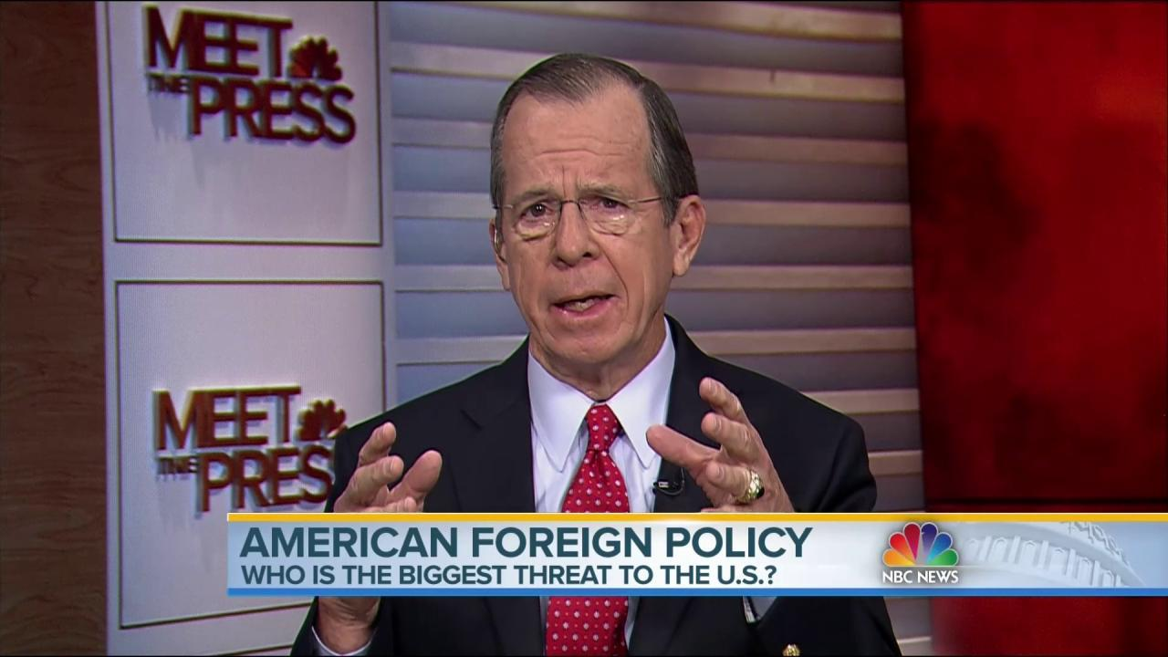 Mullen: Iran 'More Difficult Challenge' than ISIS