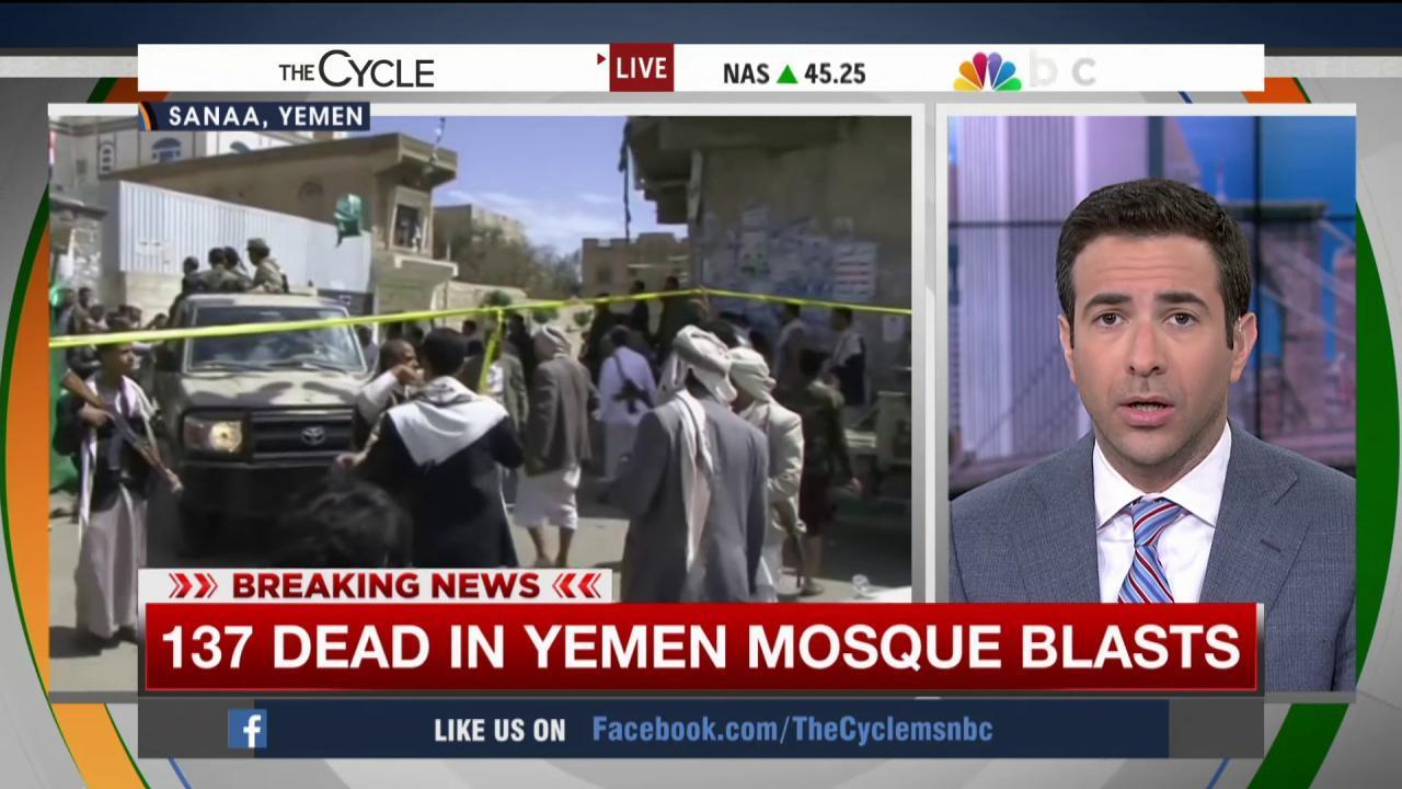 Yemen attack: Blood 'running like a river'