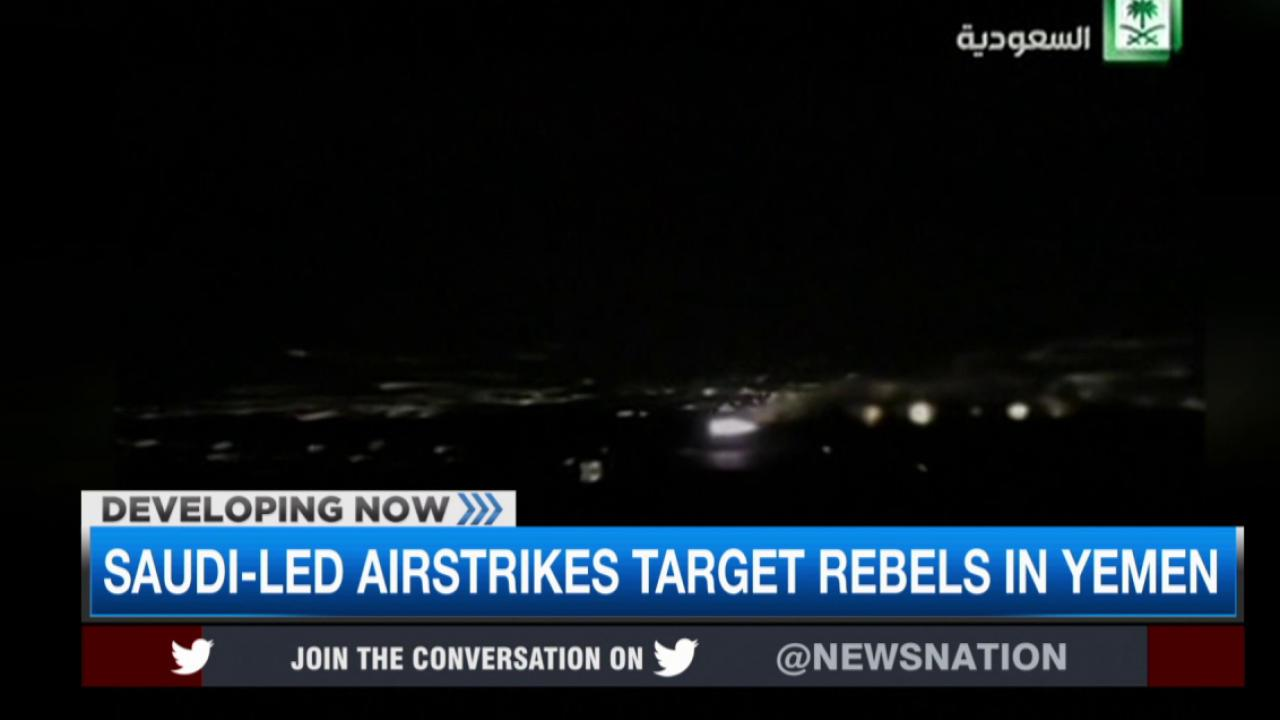 Airstrikes launched to stop rebels in Yemen
