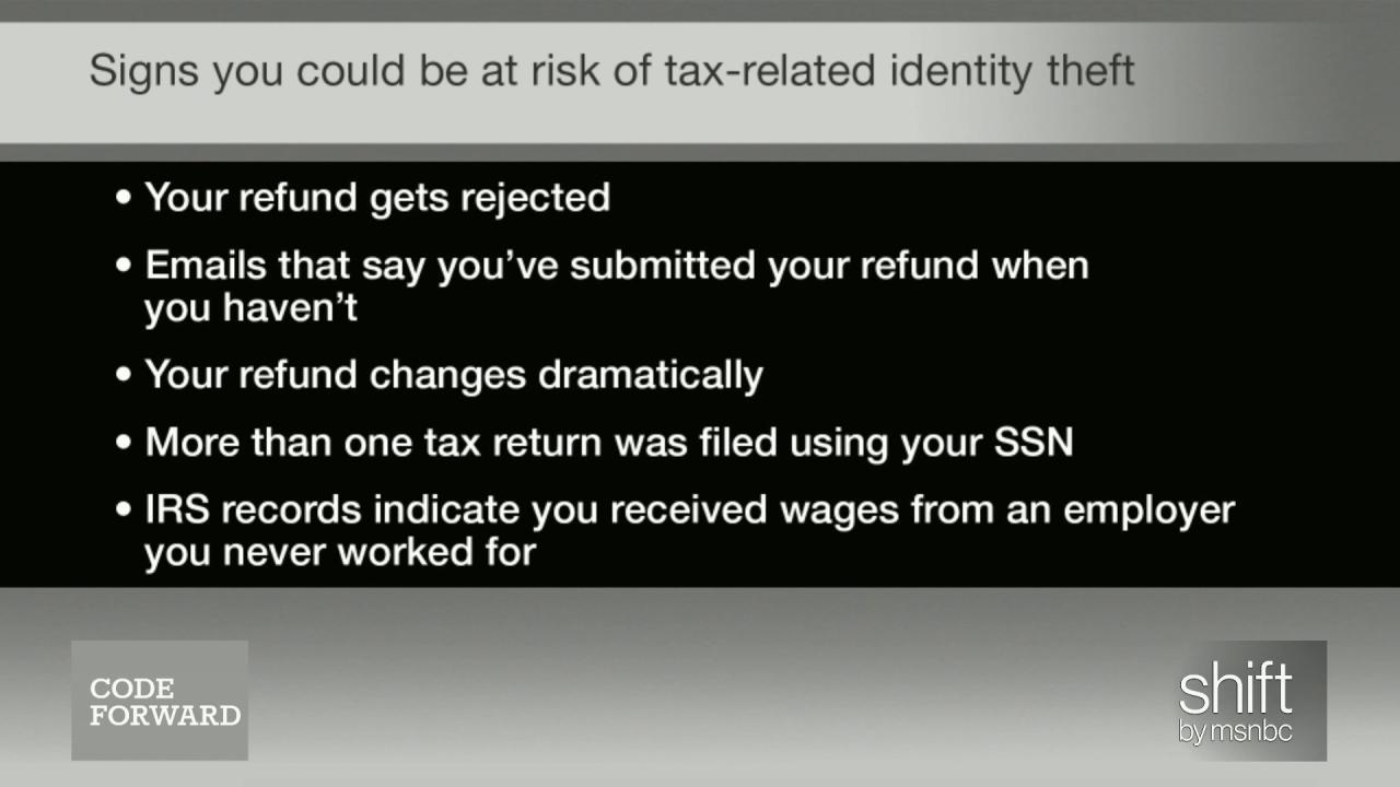 How to avoid tax refund theft