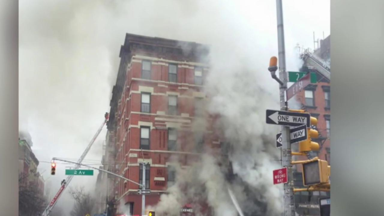 Massive building fire in Manhattan