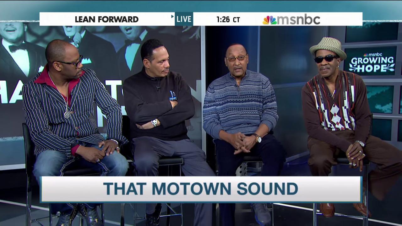 The Four Tops sing Detroit's praises