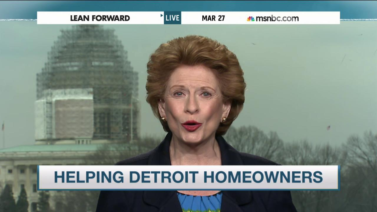Stabenow: 'Wonderful' developments in Detroit