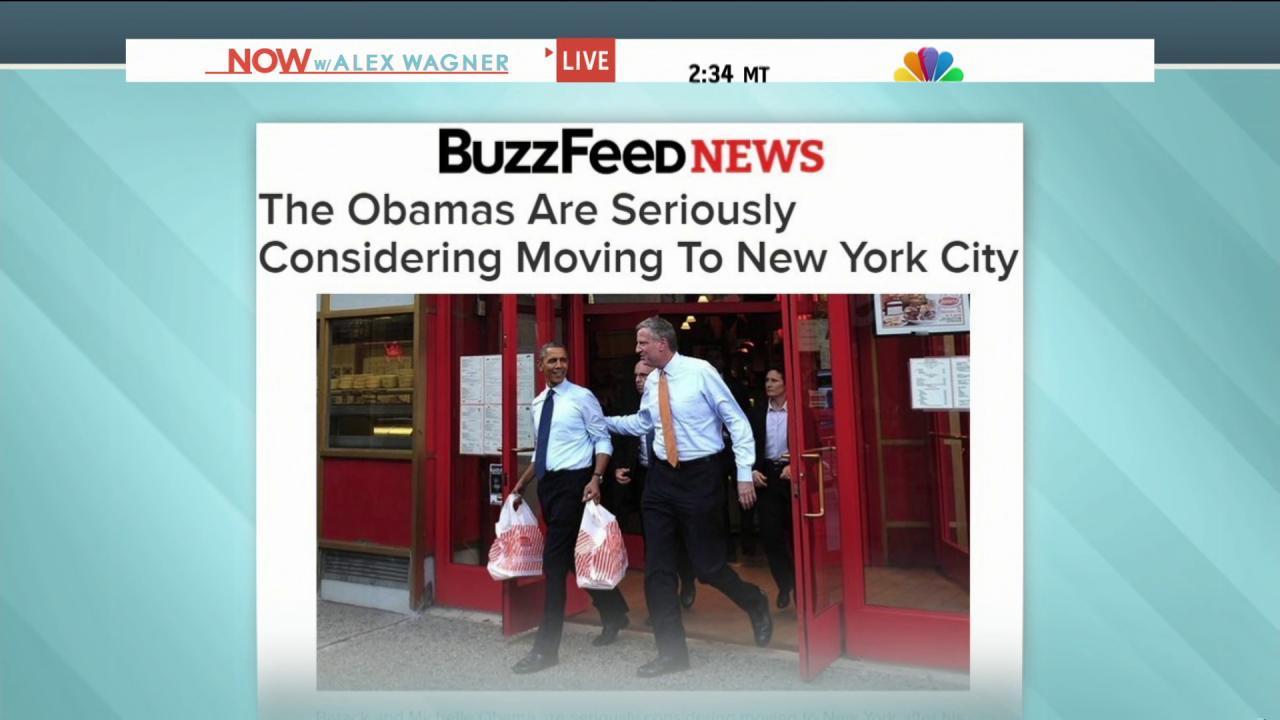 Are the Obamas moving to NYC?