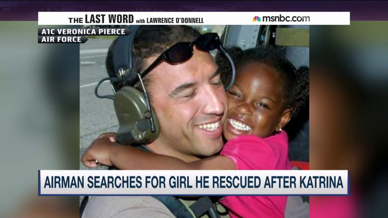 Airman searches for girl rescued in Katrina